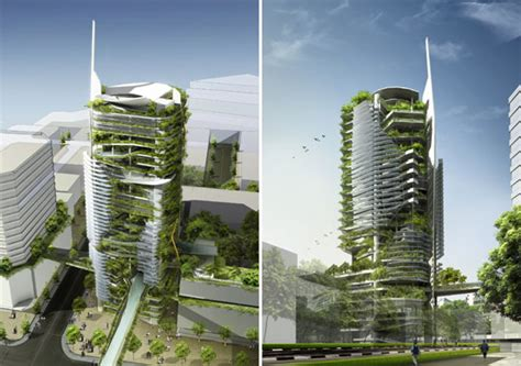 Singapore Ecological Editt Tower Inhabitat Green