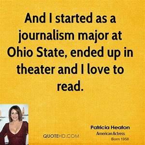 Patricia Heaton... Journalism Major