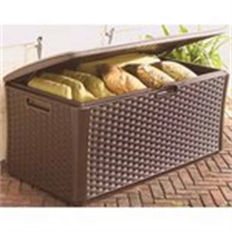 home depot deal 134 gallon suncast resin wicker deck box 139 194