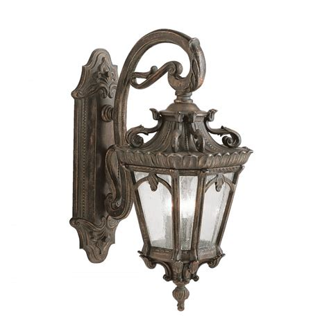 large outdoor bronze wall lantern in ornate