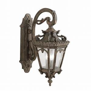 Large outdoor bronze wall lantern in ornate victorian for Victorian style exterior lighting