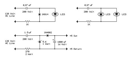 How Build Line Powered Leds Circuit Diagram