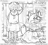Fox Outline Walking Coloring Away Female Illustration Clipart Rf Royalty Bannykh Alex Pages Template Copyright sketch template