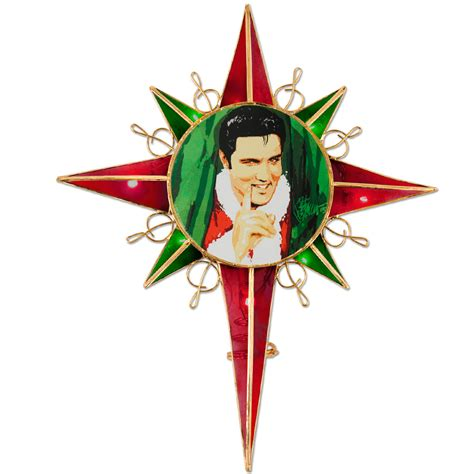 elvis joe petruccio santa tree topper musictoday superstore