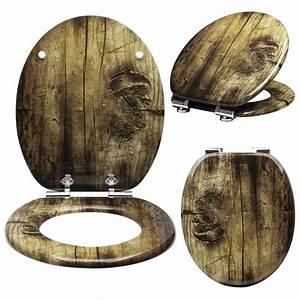 Wc Sitz Mit Absenkautomatik Holz : wc sitz toilettendeckel mdf holz absenkautomatik klodeckel toilettenbrille 61 ebay ~ Bigdaddyawards.com Haus und Dekorationen