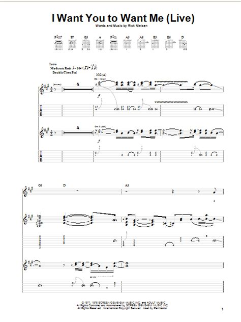 i want you to want me live guitar tab by cheap trick