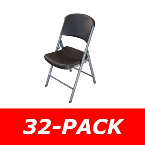 lifetime 80061 folding chairs in black 32 pack on sale