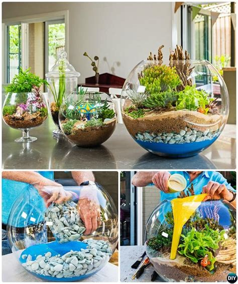 2 gallon glass 10 diy mini terrarium garden ideas and projects