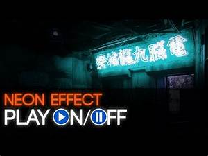 Adobe shop Texto Neon Animación Luz Gif