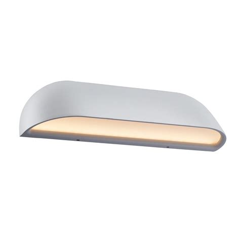 dftp nordlux front 26 outdoor led wall light white