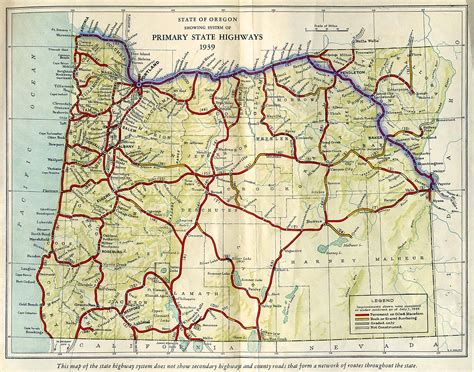 oregon secretary  state route map