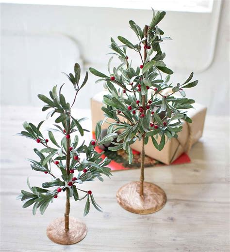 mistletoe faux trees vivaterra seasonal