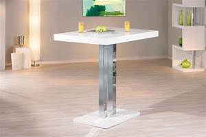 table de bar design laquee blanche palace table haute With table bar cuisine design