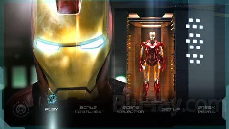 marvels  avengers blu ray menu  hd p