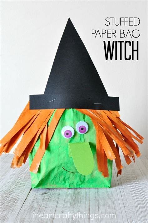 stuffed paper bag witch craft i crafty things 300 | paper bag witch craft