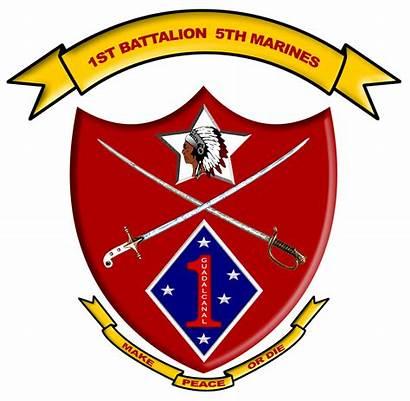 Battalion Marines 1st 5th Insignia Military Marine