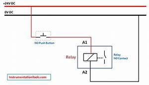 Relay Latching Circuit Using Push Button