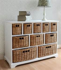 kitchen furniture direct tetbury wide storage chest with wicker baskets bedroom