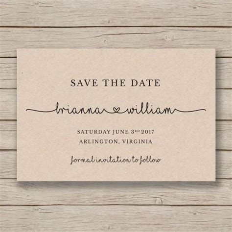 free printable save the date templates save the date printable template editable by you in word diy wedding rustic save the date