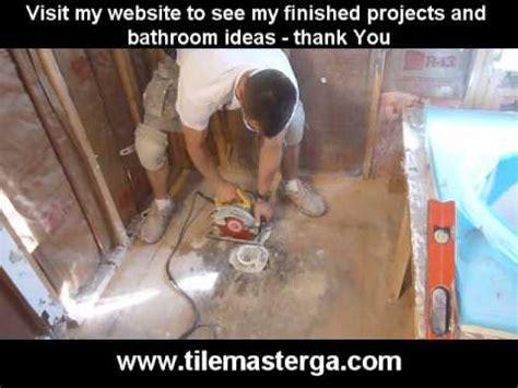 part    replace install walk  tile shower drain