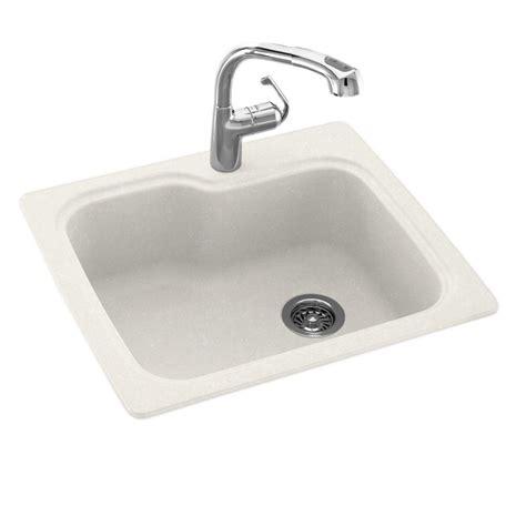 dual mount kitchen sink swan dual mount composite 25 in 1 single basin 6981