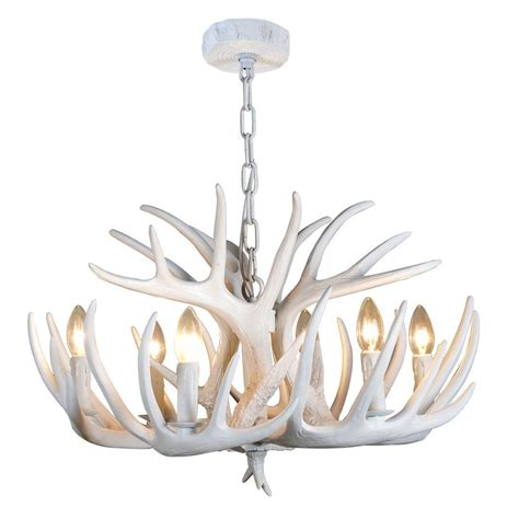 White Modern Chandelier by Modern Contemporary White Antler Chandelier 6lt Luxury
