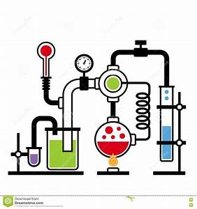 Laboratory clipart chemical reaction - Pencil and in color ...