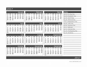 2017 12 month calendar template one page free printable With single page calendar template