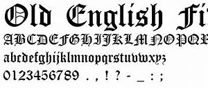 Image Gallery old english gothic font