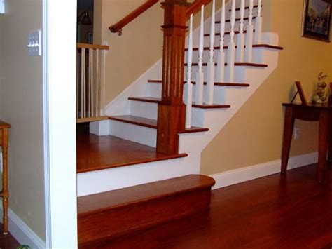 Custom Stairs   Brazilian Cherry Staircase