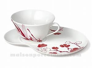 Tasse Petit Déjeuner : tasse dejeuner soucoupe tartine 32cl maison de la porcelaine ~ Teatrodelosmanantiales.com Idées de Décoration
