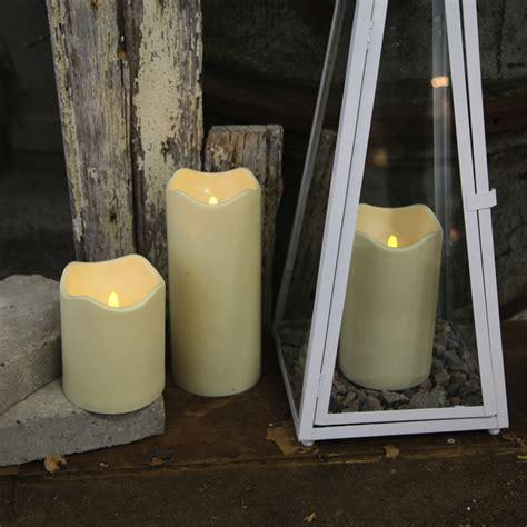 led kerzen outdoor led leucht kerze quot outdoor big quot 180x100mm f 252 r au 223 en mit timer kunststoff