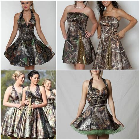 trendy camo bridesmaid dresses   unique wedding