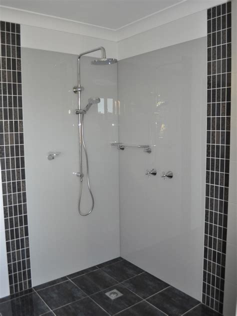 Bathroom Showers by Acrylic Splashbacks For Showers And Bathrooms