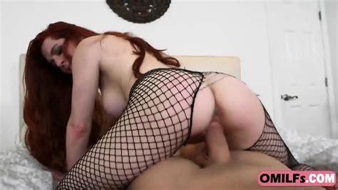 Redhead Milf In Latex Bodysuit Exposing Pink Huge