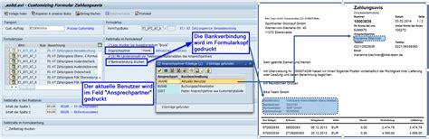 customize template formulary customizing sap formular zahlungsavis solidforms