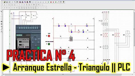 arranque estrella triangulo plc logo de siemens configuracion de tiempo muerto youtube