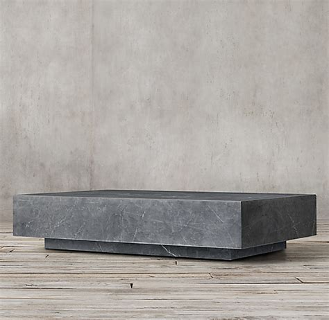 Solid wood dining, bedroom, office & living room furniture. Marble Plinth Coffee Table