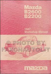 1987 Mazda B2200 B2600 Pickup Truck Wiring Diagram Manual