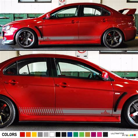 Mitsubishi Decal by Decal Sticker Stripe Kit For Mitsubishi Lancer Evolution