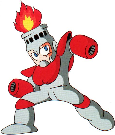 Fire Man From Mega Man Game Art