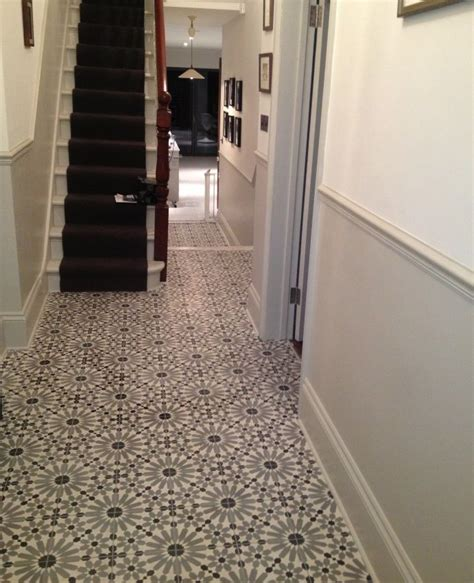 Tile Flooring Ideas For Hallways by Encaustic Tiles Barcelona 460 In Hallway Stairs
