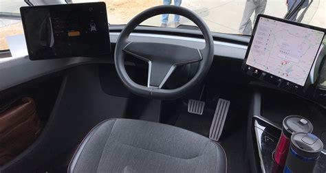 tesla semi cockpit details revealed  clearest interior