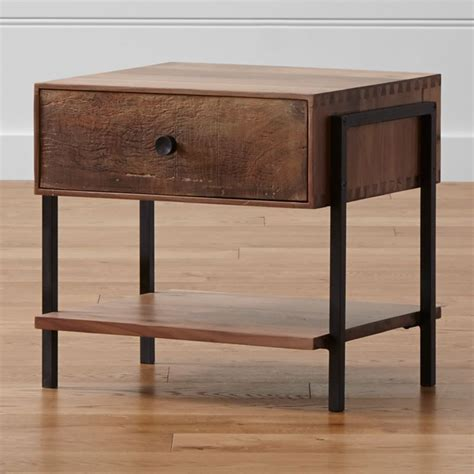 Atwood Reclaimed Wood Nightstand   Reviews   Crate and Barrel