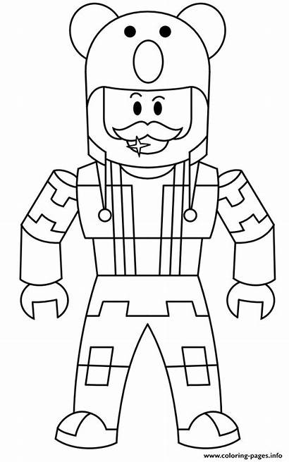 Coloring Roblox Pages Character Printable