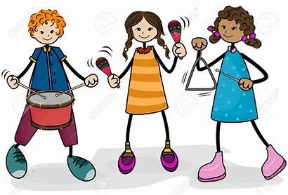Playing Instruments Clipart Children Play Musical Instrument