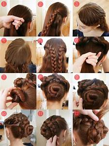 Easy updos for long thick hair Hairstyle for women & man
