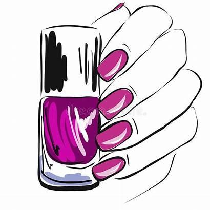 Nail Nails Polish Vector Hand Pink Illustration
