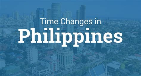Daylight Saving Time 2020 in Philippines