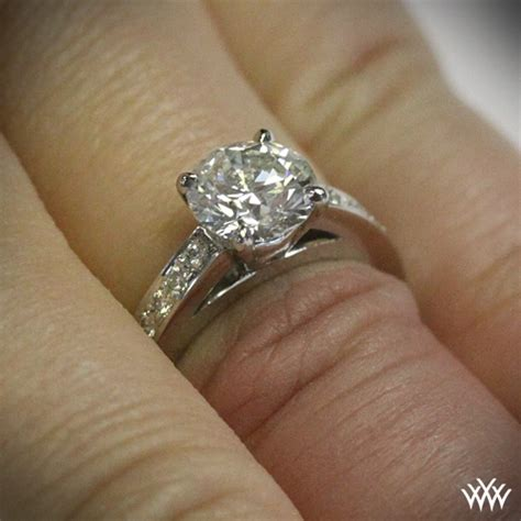 flush fit diamond engagement ring 42